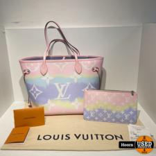 Louis Vuitton Louis Vuitton Escale Neverfull MM Pastel Limited Edition M45270 Tas met Pouch Compleet met Bon