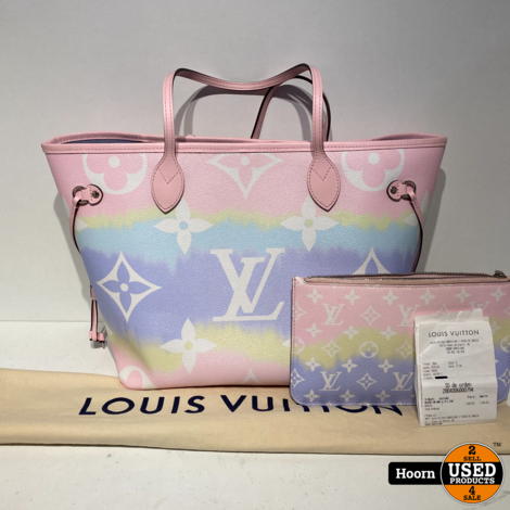 Louis Vuitton Escale Neverfull MM Pastel Limited Edition M45270 Tas met Pouch Compleet met Bon