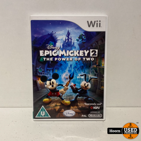Nintendo Wii Game Epic Micky 2 The Power of Two