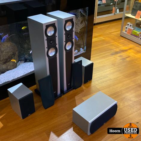 Elac 5.0 Speaker Set Bestaande uit: 207 Vloerspeakers, 201 Boekenplank Speakers en Center 101 II CenterSpeaker