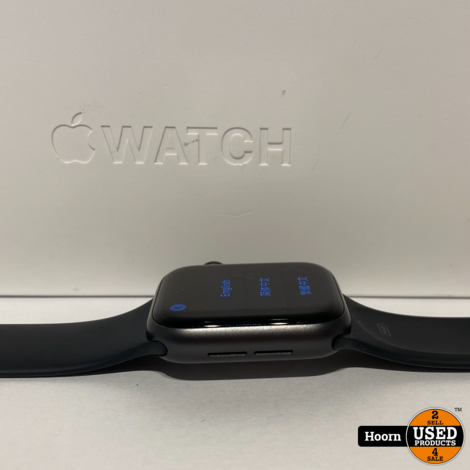 Apple Watch Series 5 40mm Space Gray Black Sport Band Compleet in Doos