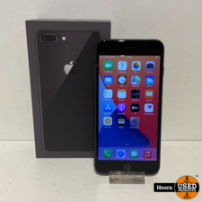 Apple iPhone iPhone 8 Plus 256GB Space Gray Compleet in Doos incl. Lader Accu: 88%