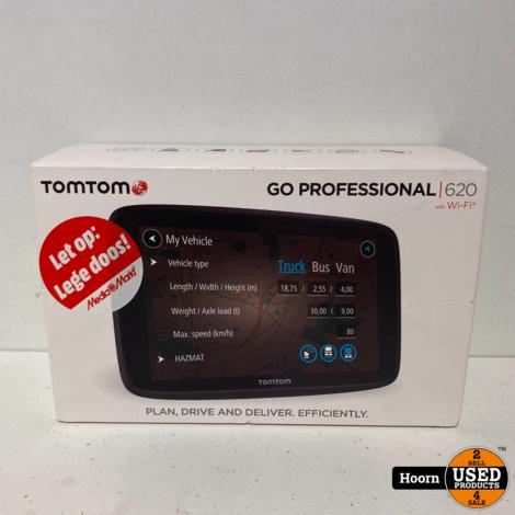 TomTom GO Professional 620 Trucker - Full Europe - 6 inch - Lifetime Maps Compleet in Doos in Zeer Nette Staat