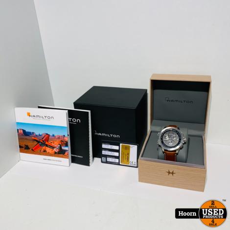 Hamilton KHAKI X-WIND H779120 GMT Chrono Quartz Heren Horloge Nieuw In Doos
