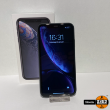 iPhone XR 64GB Zwart in Doos incl. Lader Accu 89%