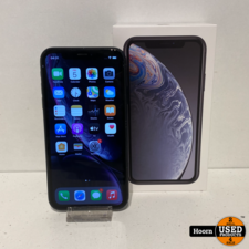 Apple iPhone iPhone XR 128GB Black in Doos incl. Lader Accu: 89%