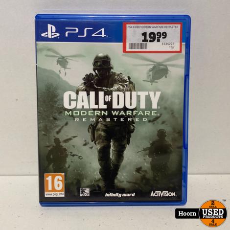 Playstation 4 Game: Modern Warfare Remasterd