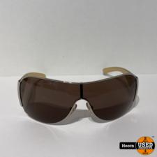 PRADA PRADA SPR 57L 1BC 8C1 120 3N Authentic Silver Beige Brown Zonnebril