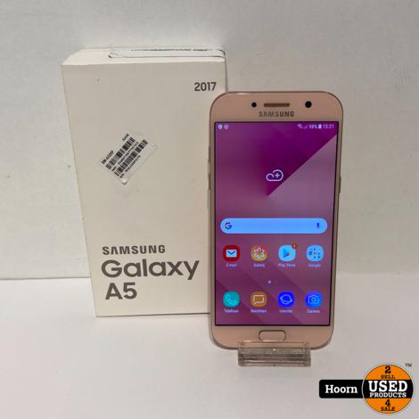 Samsung Galaxy A5 2017 32GB Pink in Doos incl. Lader
