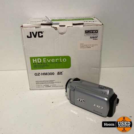 JVC GZ-HM300 Full HD Videocamera Compleet in Doos incl. Lader