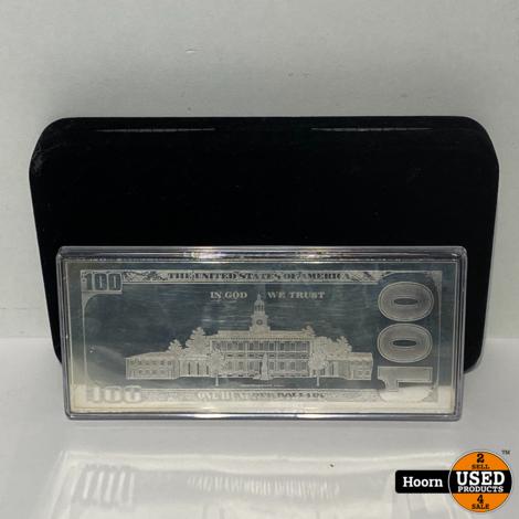100 Dollar Biljet Zilver 4 Oz 999 2017 Compleet met Certificaat