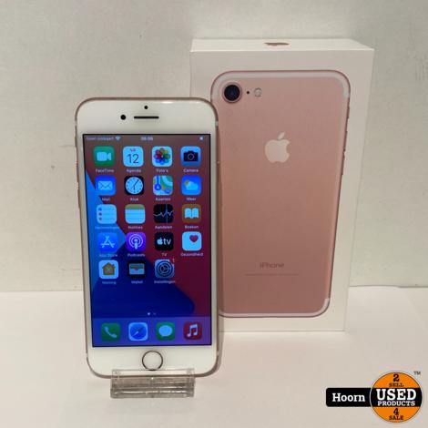 iPhone 7 128GB Rose Gold in Doos incl. Lader Accu: 92%