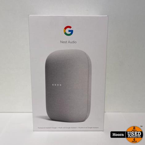 Google Nest Audio Wit ZGAN Compleet in Doos
