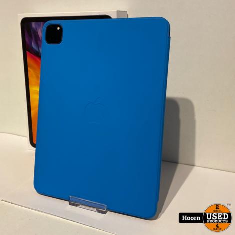 Apple iPad Pro 2020 11inch 2e Generatie 128GB Wifi Space Gray ZGAN Compleet in Doos met Originele Hoes