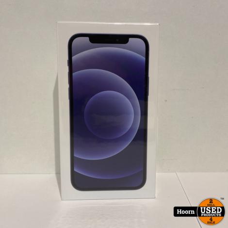 iPhone 12 256GB 5G Black Nieuw in Seal met Bon