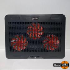 Fuegobird Laptophouder en Koeler 3 Ventilatoren Verstelbaar RGB Max 17 inch Zwart  ZGAN