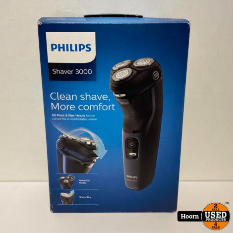 Philips Elektrisch Scheerapparaat Wet & Dry Series 3000 S3134/51 Nieuw in Doos