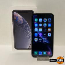 Apple iPhone iPhone XR 128GB Black Compleet in Doos Accu: 91%