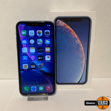 iPhone XR 64GB Blue in Doos incl. Lader Accu: 91%