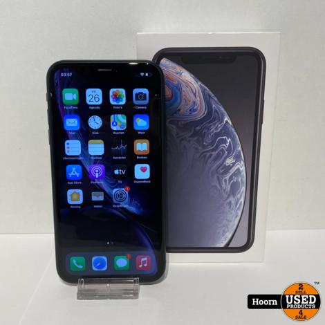 iPhone XR 64GB Zwart in Doos incl. Lader Accu: 90%