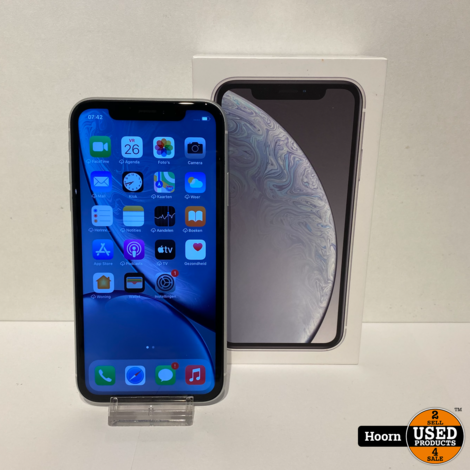 iPhone XR 64GB Wit in Doos incl. Lader Accu: 87%