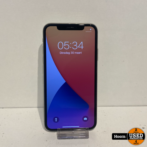 iPhone X 64GB Silver Los Toestel incl. Lader Accu: 91%