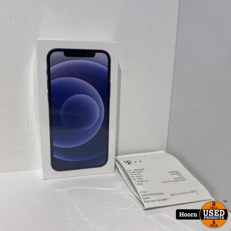 iPhone 12 256GB Black 5G Nieuw in Seal Met Bon