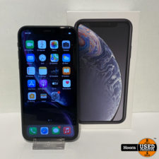 Apple iPhone iPhone XR 64GB Black in Doos incl. Lader Accu: 88%