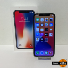 Apple iPhone iPhone X 64GB Space Gray in Doos incl. Lader Accu: 86%