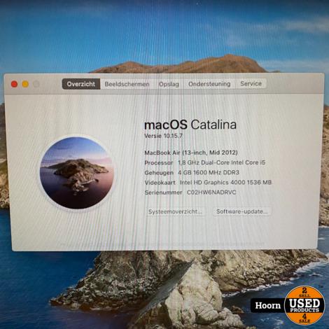 MacBook Air 13 inch mid 2012   1.8Ghz i5   4GB RAM   128GB SSD incl. Lader
