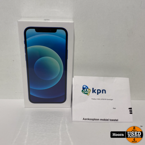 iPhone 12 256GB Blue 5G Nieuw in Seal Met Bon