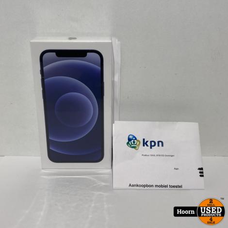 iPhone 12 256GB Zwart 5G Nieuw in Seal Met Bon