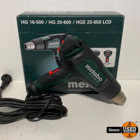 Metabo HGE 23-650 LCD  230V/2100W Heteluchtpistool Nieuw in Doos