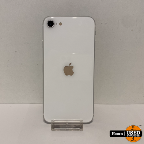 iPhone SE 2020 128GB White Los Toestel incl. Lader Accu: 100%