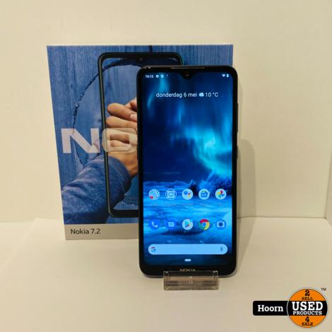 Nokia 7.2 128GB Zwart Compleet in Doos In Nette Staat