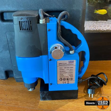 HBM 32 mm Magneetboormachine 1600W incl. Koelinstallatie ZGAN in Koffer