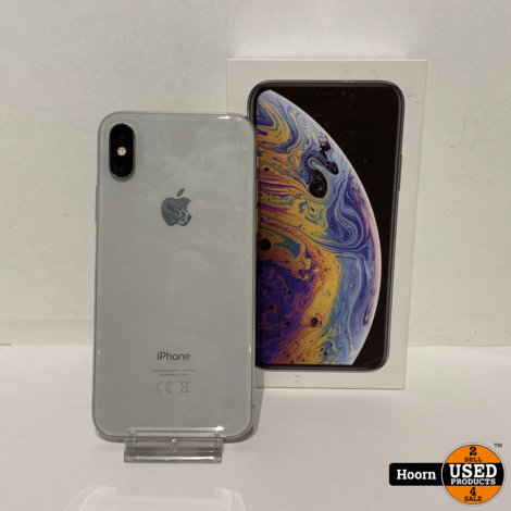 iPhone XS 64GB Silver in Doos incl Lader Accu: 83%