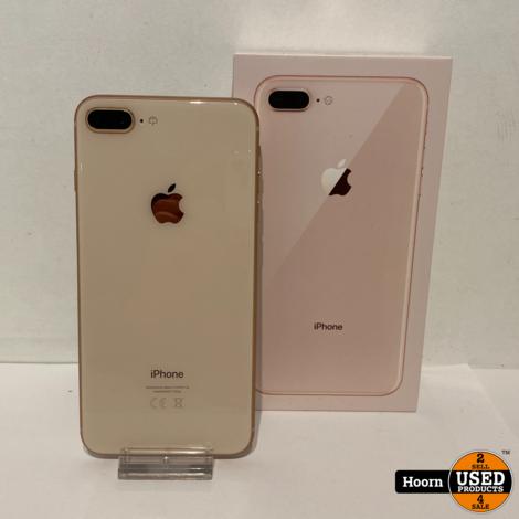 iPhone 8 Plus 64GB Gold in Doos incl. Lader Accu: 87%