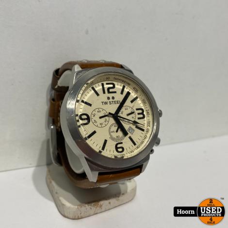TW Steel Heren Horloge 45MM Bruin Lederen Band