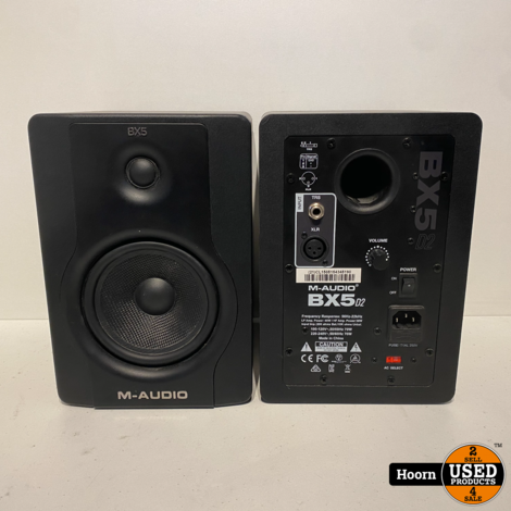 M-Audio BX5 D2 Actieve Studiomonitor Set in Nette Staat