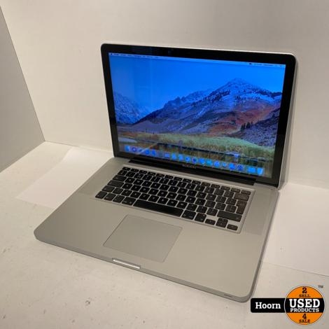 MacBook Pro 15 inch Eind 2011   2.4Ghz i7   8GB RAM   512GB SSD incl. Lader