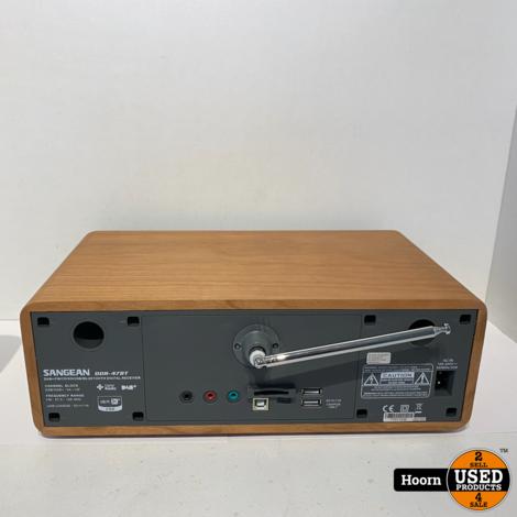 Sangean DDR-47 BT Tafelradio DAB+, FM AUX, CD, SD, USB Compleet ZGAN