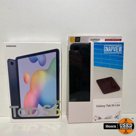 Samsung Galaxy Tab S6 Lite 128GB WiFi Oxford Gray 10.4'' ZGAN Compleet in Doos Met Bon en Hoes