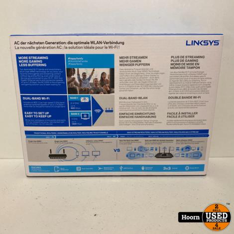 Linksys AC1900 MU-MIMO Gigabit Router Smart WiFi Router ZGAN in Doos