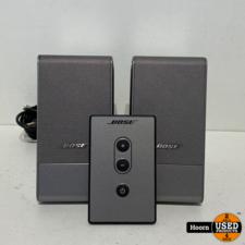 bose Bose 301482-001 Computer MusicMonitor Computer Desktop Speakers Silver Compleet incl. Afstandsbediening