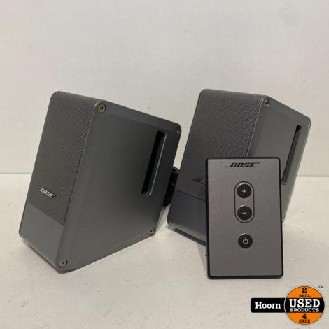 Bose 301482-001 Computer MusicMonitor Computer Desktop Speakers Silver Compleet incl. Afstandsbediening