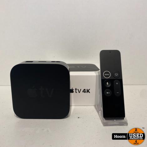 Apple TV 4K (1e generatie) 32GB Zwart ZGAN Compleet in Doos