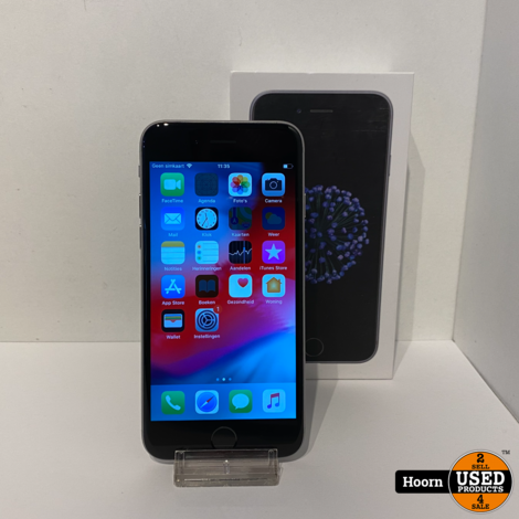 iPhone 6 32GB Space Gray in Doos incl. Lader Accu: 88%