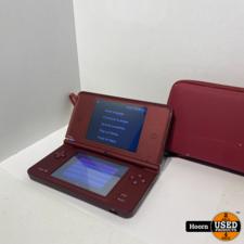 Nintendo DSi XL Rood Compleet incl. Lader en Hoes