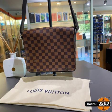 Louis Vuitton District PM Damier Ebene Canvas Messenger Bag N41031 in Dustbag in Zeer Nette Staat